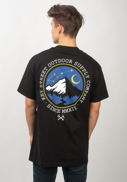 Key Street T-Shirts Outdoor Supply black vorderansicht 0399529