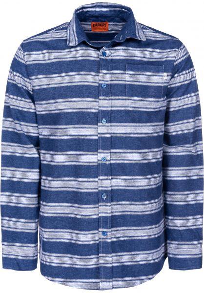 Plenty Humanwear Hemden langarm Leon Button Down bluestripe vorderansicht 0411877