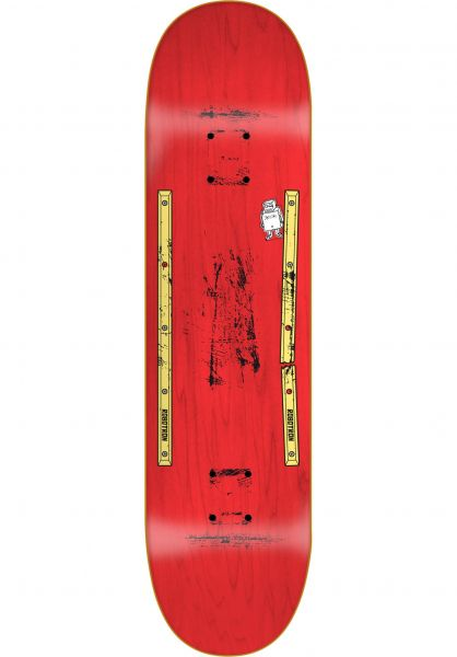 ROBOTRON Skateboard Decks Second Hand Rail red vorderansicht 0262629