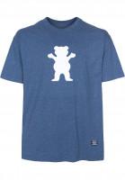 Grizzly T-Shirts OG Bear Logo denimheather Vorderansicht