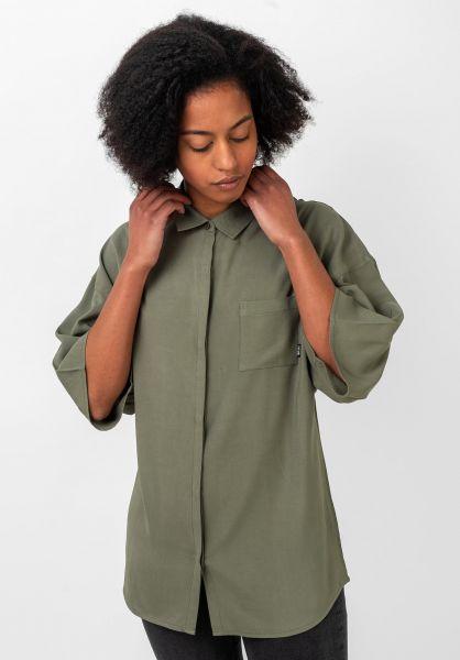 TITUS Hemden kurzarm Emilia olive vorderansicht 0400890