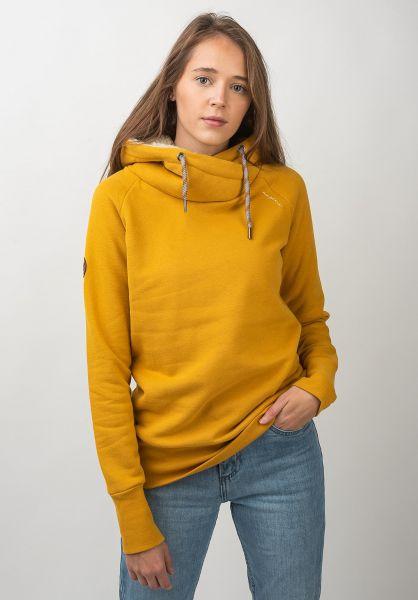 Mazine Hoodies Sandy Cuddly Heavy yellow vorderansicht 0445401