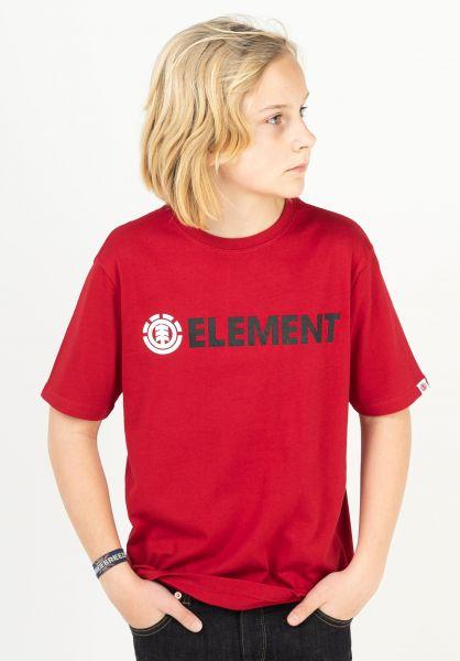 Element T-Shirts Blazin Kids chilipepper vorderansicht 0322996