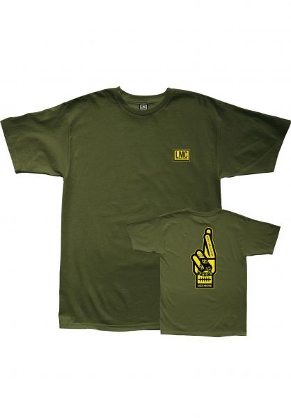 Loser-Machine T-Shirts Free Land military-green vorderansicht 0322877