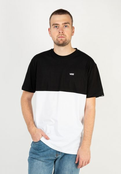 Vans T-Shirts Colorblock black-white vorderansicht 0397884