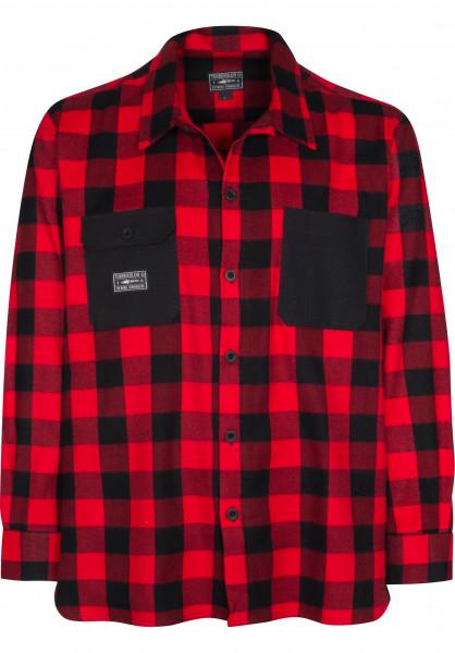 Turbokolor Hemden langarm Shephard Flannel red-black Vorderansicht