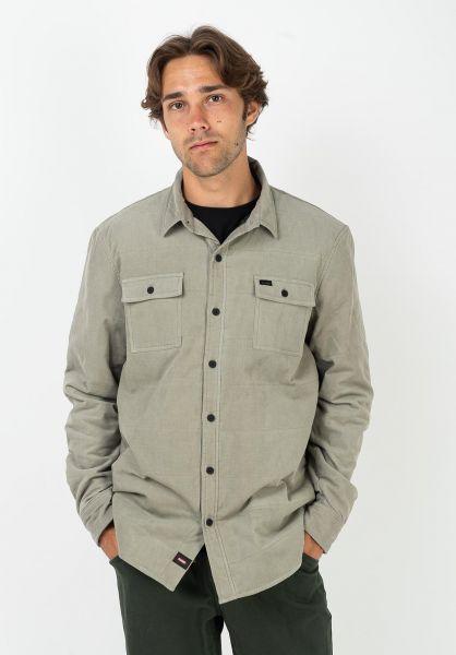 Globe Hemden langarm Winton Thermal Cord pumice vorderansicht 0412072