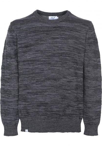 Reell Strickpullover Knitted Striped darkgrey Vorderansicht
