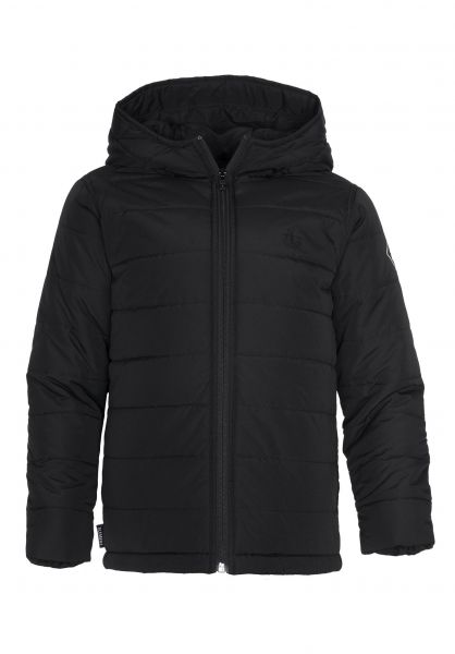 Element Winterjacken Hayden Kids black Vorderansicht