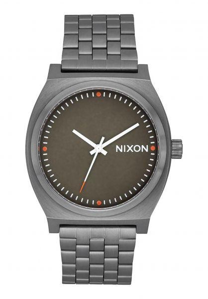 Nixon Uhren The Time Teller allgunmetal-slate-orange vorderansicht 0810087