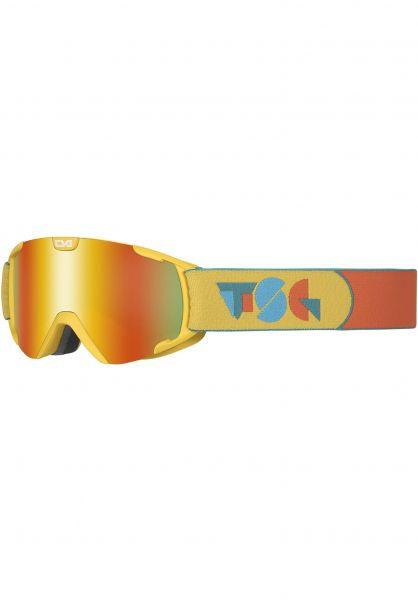 TSG Snowboard-Brille Goggle Expect Mini constructured-red chrome Vorderansicht