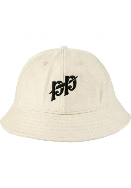 Passport Skateboards Hüte PP 6 Panel Bucket Cap cream vorderansicht 0580475