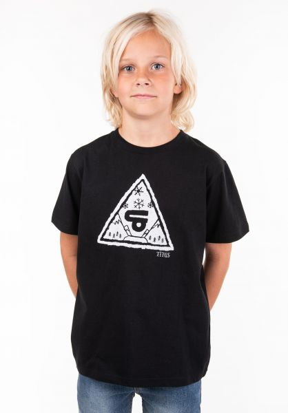 TITUS T-Shirts Forest Triangle Kids black vorderansicht 0397391