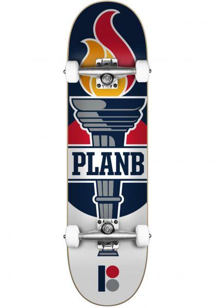 Plan-B Skateboard komplett Team Legend multicolored vorderansicht 0162593