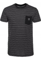 iriedaily T-Shirts Grand Pocket blackmelange Vorderansicht