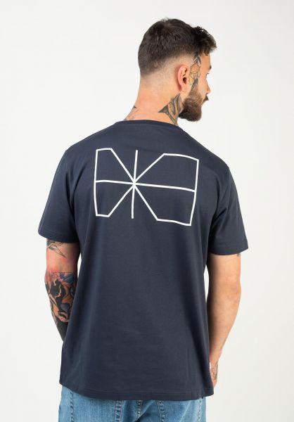 Makia T-Shirts Trim blue vorderansicht 0383343