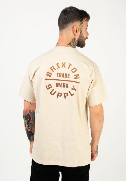 Brixton T-Shirts Oath V natural-gradient vorderansicht 0321480