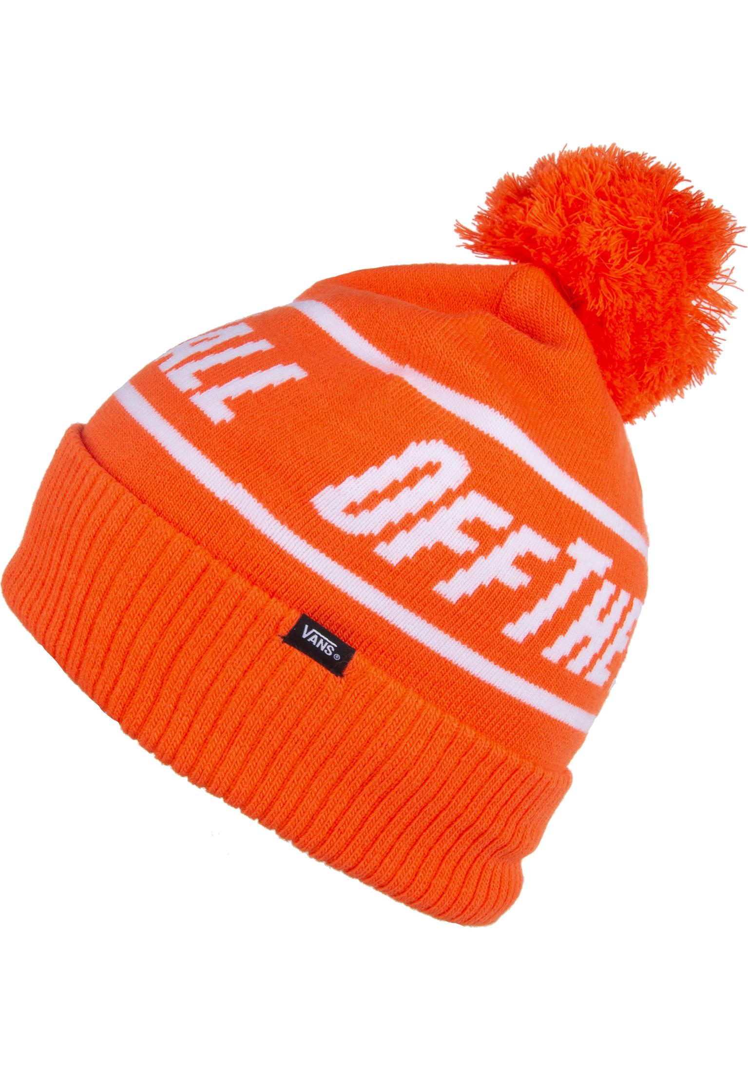 3823281bac7 Off The Wall Pom Vans Beanies in flame for Women