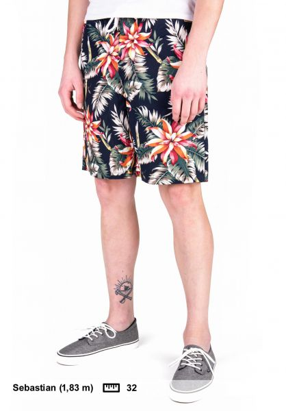TITUS Chinoshorts Palm Leaf AO navy-pattern vorderansicht 0551916