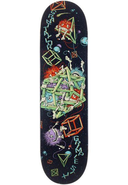 Anti Hero Skateboard Decks Taylor Grimplestix black vorderansicht 0266869