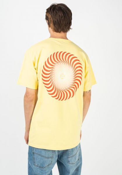 Spitfire T-Shirts Classic Swirl Fade banana vorderansicht 0383202