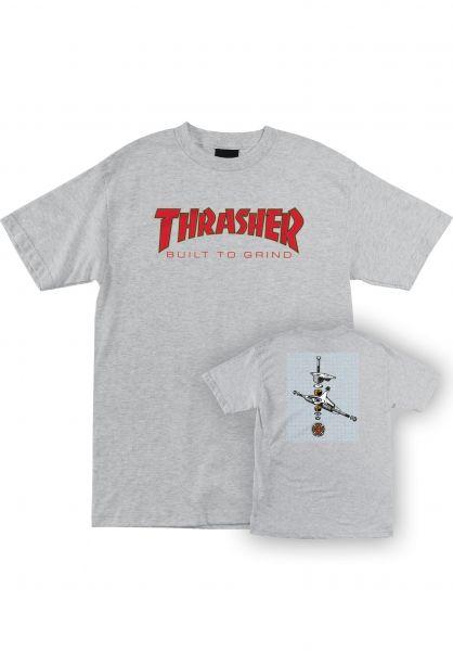 Independent T-Shirts Thrasher BTG S/S athletic-heather vorderansicht 0399022
