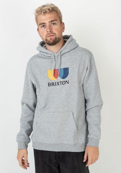 Brixton Hoodies Alton II heathergrey vorderansicht 0446027