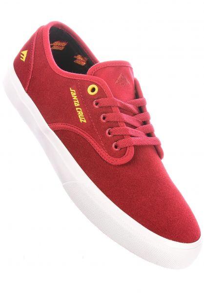 Emerica Alle Schuhe x Santa Cruz Wino Standard red-white vorderansicht 0604812