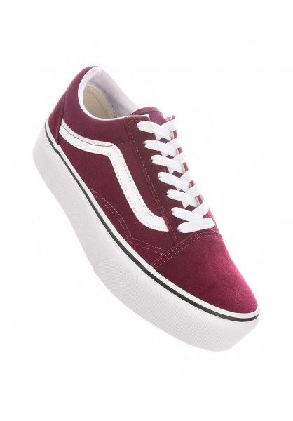 Vans Alle Schuhe Old Skool Platform portroyale-truewhite vorderansicht 0612413