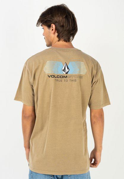 Volcom T-Shirts Voltrude sanddune vorderansicht 0322522