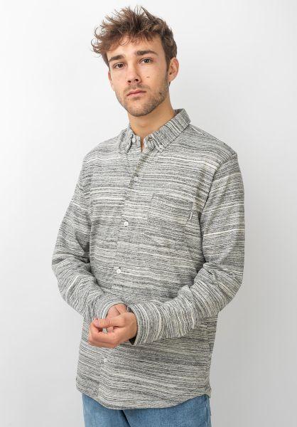 Wemoto Hemden langarm Shaw greymelange vorderansicht 0411880