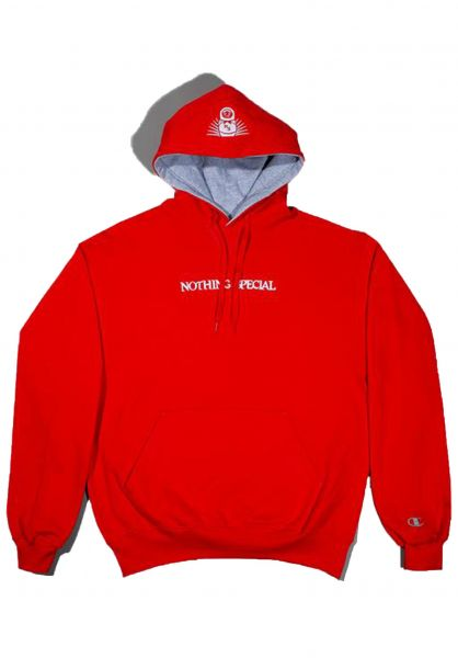 Nothing Special Hoodies Thicker Than Water red vorderansicht 0445387