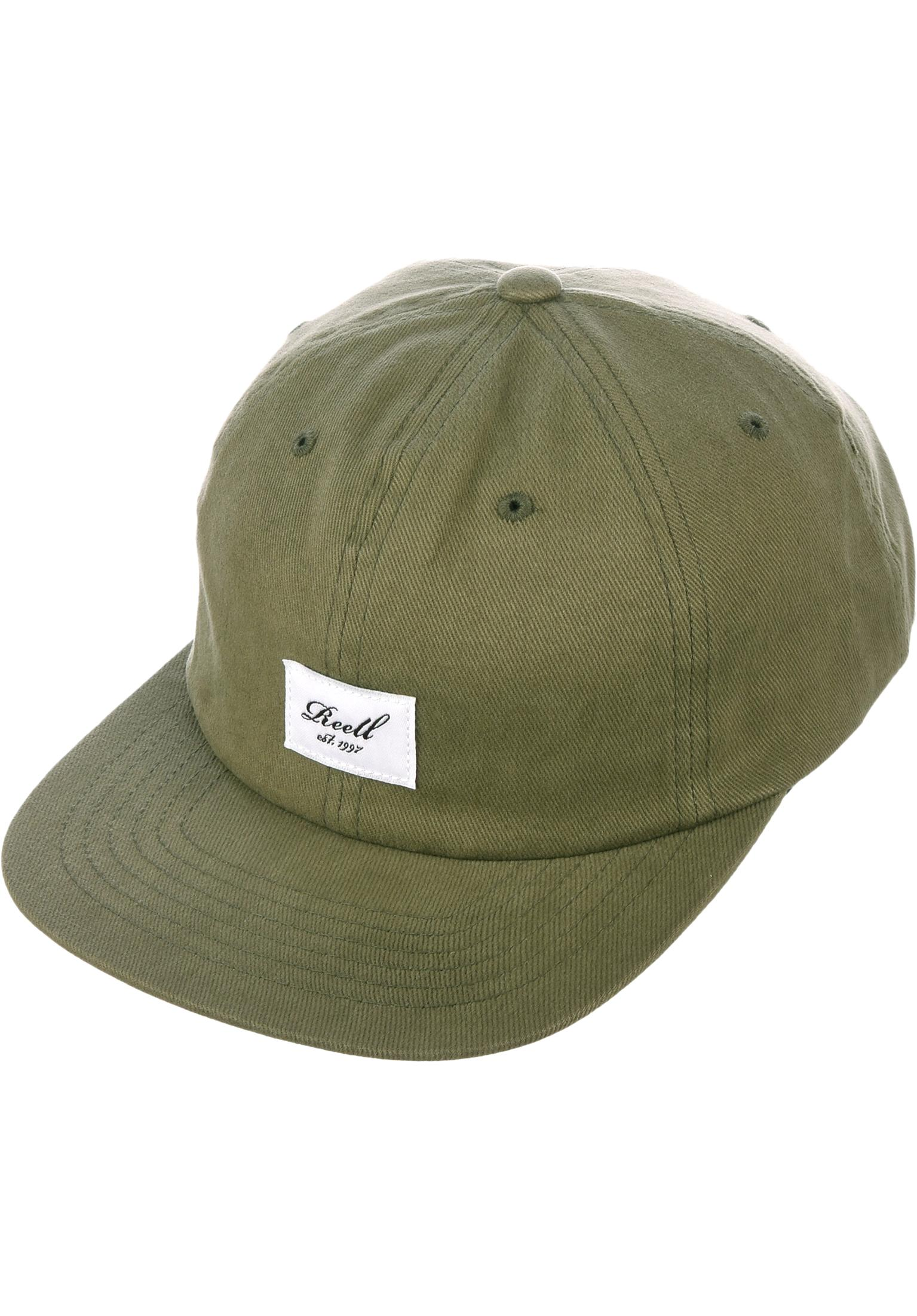 672c44788d9d5 Flat 6 Panel Reell Caps in olive for Men