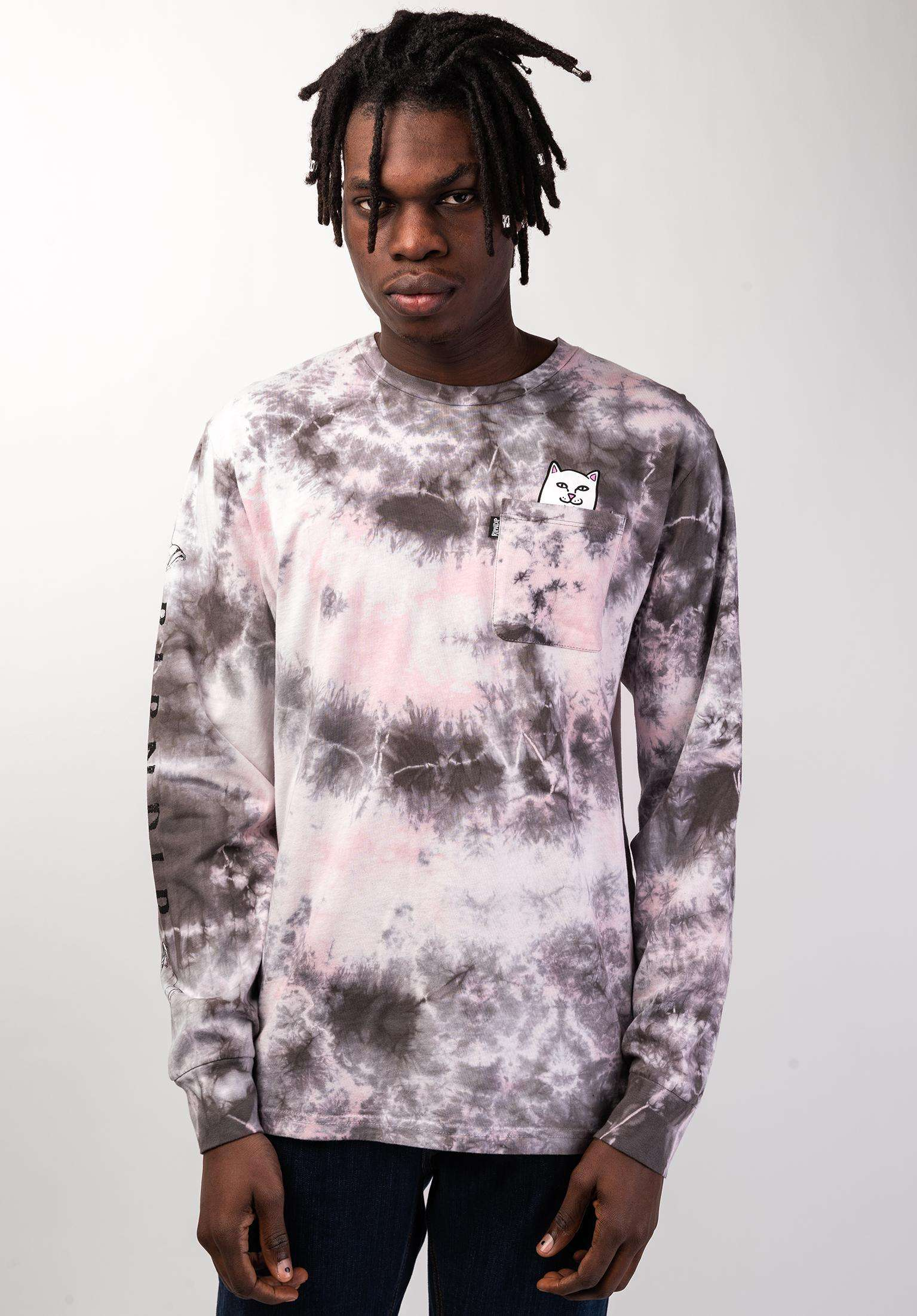 7cd15d39a84b Lord Nermal Pocket Rip N Dip Longsleeves in lightpinkmineralwash für Herren