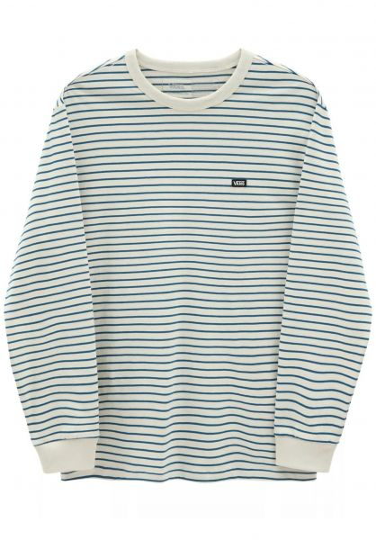 Vans Longsleeves Off the Wall Classic Stripe seedpearl-moroccanblue vorderansicht 0383996