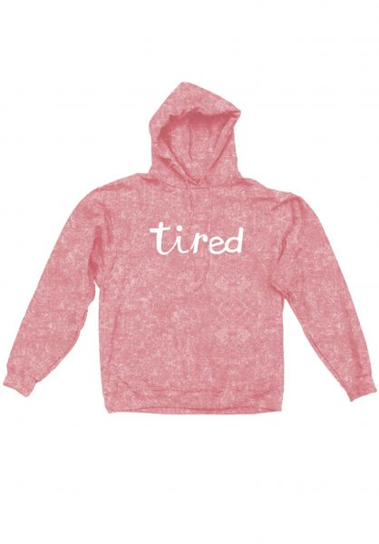 Tired Hoodies Script washed pink vorderansicht 0445406