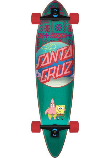 Santa-Cruz Longboards komplett SpongeBob Best Buds Pintail blue vorderansicht 0194295