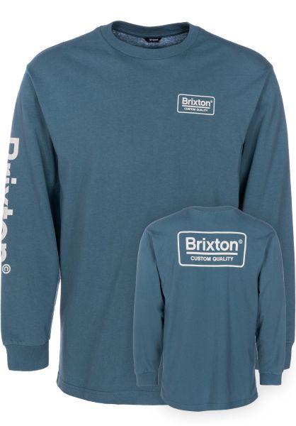 Brixton Longsleeves Palmer SV orionblue vorderansicht 0382955