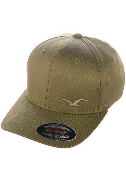 Cleptomanicx Caps Flex dustyolive vorderansicht 0566884