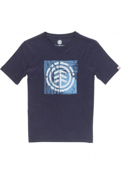 Element T-Shirts Driftwood Kids eclipsenavy vorderansicht 0320523