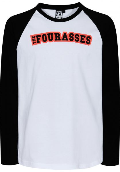 Fourasses Longsleeves TheFours black-white Vorderansicht