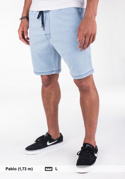Reell Shorts Easy lightbluedenim Vorderansicht