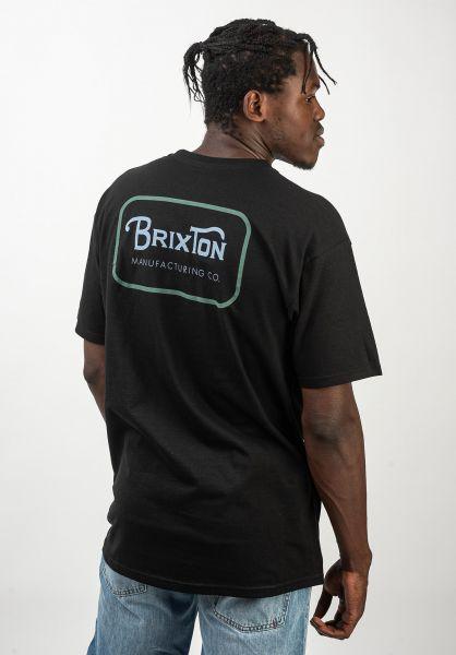 Brixton T-Shirts Grade black-blue vorderansicht 0399859