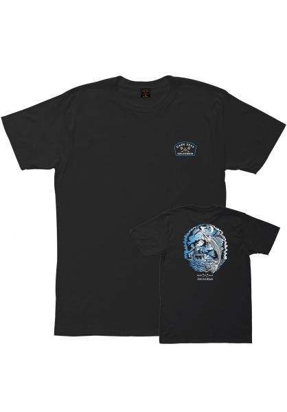 Dark Seas T-Shirts x Grundens Nightfall black vorderansicht 0383309