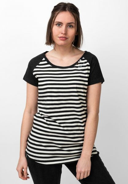 Ragwear T-Shirts Mazik Organic black vorderansicht 0321153