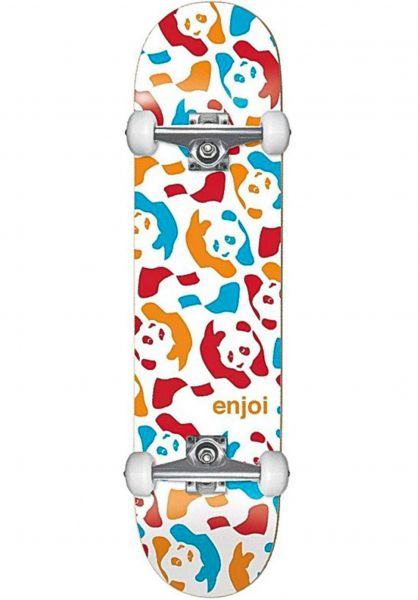 Enjoi Skateboard komplett Repeater white-multi vorderansicht 0162042