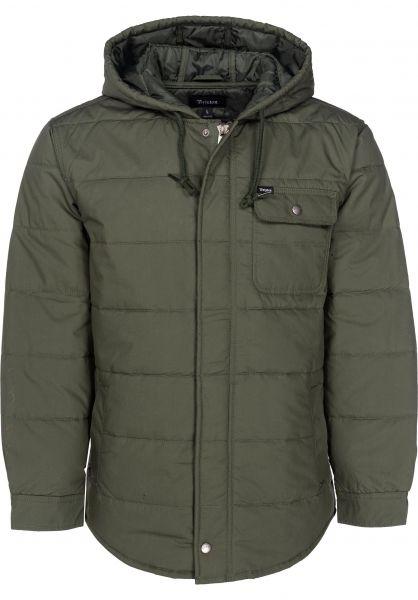 Brixton Übergangsjacken Cass Hood Jacket pine Vorderansicht ca44ee2592d