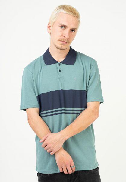 Brixton Polo-Shirts Shield Stripe ocean-washednavy vorderansicht 0138438