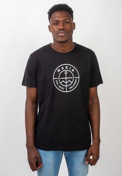 Makia T-Shirts Scope black vorderansicht 0320692