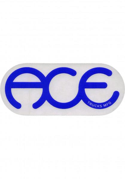 """Ace Verschiedenes Rings Logo Sticker 6"""" clear-blue Vorderansicht"""